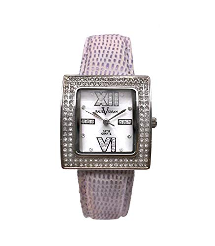 Paul Versan Reloj Análogo clásico para Mujer de Cuarzo con Correa en Cuero PV4037