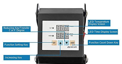 Display4top 5 IN 1 Transferpresse Tassenpresse Textilpresse,29 x 38cm,Hut/Platte/Kappe/T-Shirt Multifunktions DIY Hitzepresse 360-Grad-Drehung - 5