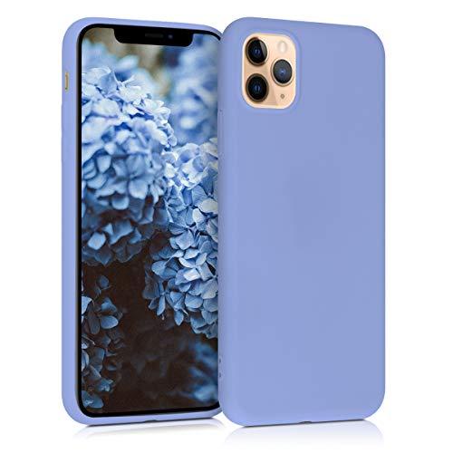 kwmobile Cover Compatibile con Apple iPhone 11 PRO Max - Cover Custodia in Silicone TPU - Backcover Protezione Posteriore- Lavanda Grigio