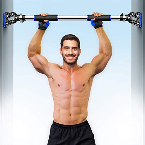 I IBIFIC Pull Up Bar Doorway Exercise Equipment Wall Mounted Adjustable Width with Locking Mechanism Home Upper Body Chin Up Workout Fitness Gym for Men and Women