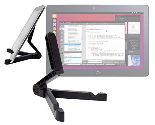 DURAGADGET Soporte Plegable con Función Atril para la Tablet BQ Aquaris M10 Ubuntu Edition 10.1' | HD | Full HD