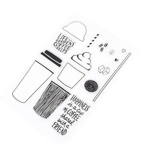 Hothap Dekorative Klar Kaffeetasse Transparente Stempel DIY Silikon Rubber Scrapbooking