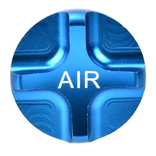 VGEBY Gabel Ventildeckel Aluminiumlegierung Fahrradfedergabel Vordergabel Luftdichter Ventildeckel Fahrrad Axxessory(Blau)