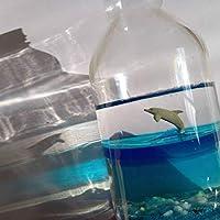 海のかけら ジャンプしたイルカをウイスキーの瓶に入れました4 レジンアート水中海中ジオラマ個性いるかの置物オブジェ アンティーク 骨董品