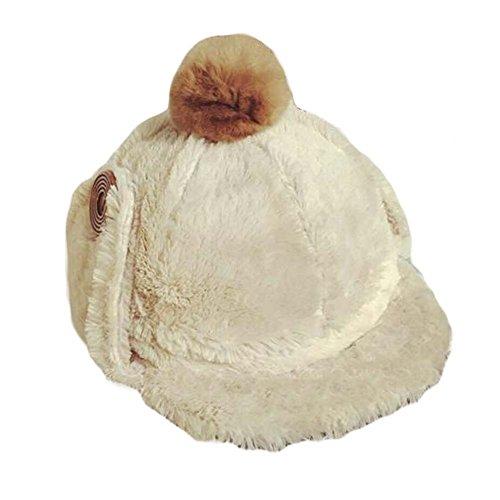 BLANCHO BEDDING Sombrero de esquí Caliente al Aire Libre Sombrero de esquí Suave Sombrero de Invierno Grueso Simple con Cubierta de oído