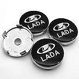 LOPLP Auto Auto Rad Mittelabdeckung Radkappen Radkappen Auto Rad Felge Radkappe Emblem Abdeckungen für Lada Granta X RAY Vesta XCOD,...