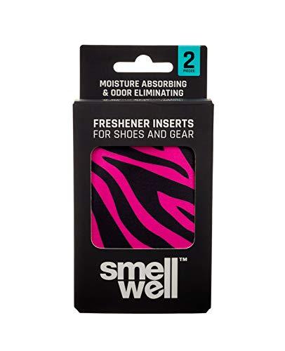 SmellWell Trocknungs- und Erfrischungskissen für Schuhe, Sporttaschen oder sogar das Auto - versetzt mit einem frischen Duft (Pink Zebra)