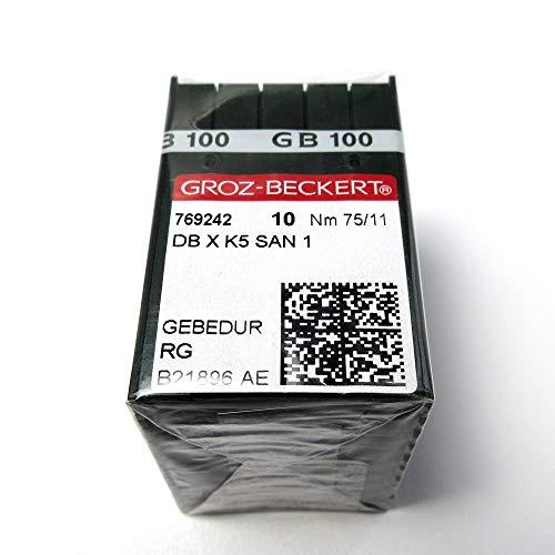 100 Groz Beckert Dbxk5 San1 Gebedur Titanium beschichtete Stickmaschinennadeln (11/75)
