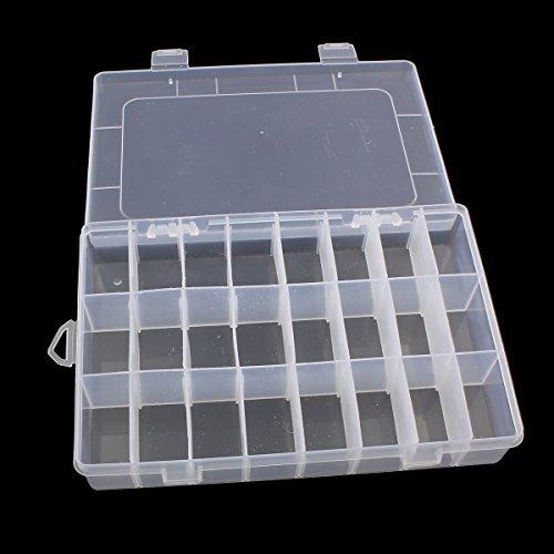 Perlenbox XL groß Sortierbox mit 24 Fächern 20cm Sortierkiste Kunststoff Container Materialbox Sortimentskasten Sortimentsboxen für die Schmuck, Perlen Nailart Kosmetik und andere Mini Waren