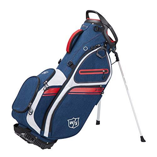 Wilson Staff Sac de Golf, EXO II Carry Bag, Sac Trépied, Bleu/Blanc/Rouge, Support Intégré, 2,3 kg, WGB6600NA