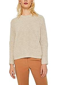 ESPRIT Damen 129Ee1I007 Pullover, Beige (Beige 2 271), Large (Herstellergröße: L)