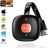 JKLL Wireless HDMI Display Adapter 4K HDR WiFi HDMI Dongle Wireless Receiver Streaming Android/iOS/Window/Mac OS Laptop, Phone, Tablet, PC to HDTV/Monitor/Projector (Support Miracast, DLNA, Airplay)