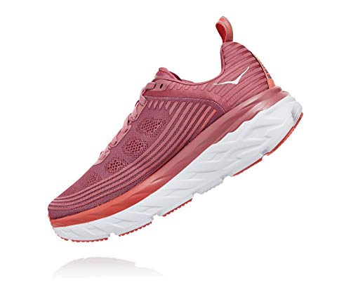 HOKA ONE ONE Womens Bondi 6 Running Shoe (Heather Rose/Lantana