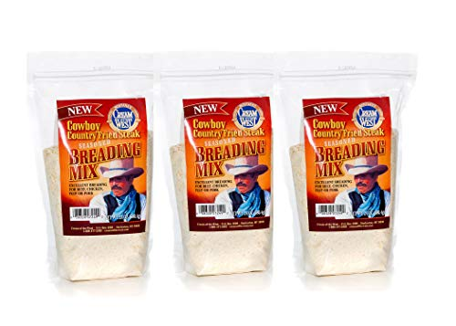 Cream of the West, Seasoned Breading Mix, Cowboy Country Fried Steak - 24 oz. Box, Pack of 3