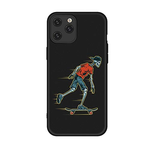 DAMAIA DMKJFFF Skateboard Skeleton Telefon-Kasten for iPhone 12 11 Pro Max Xs Max Xr TPU Fälle for iPhone 7 6s 8 Plus Soft Cover Hallowm (Color : 15, Material : for iPhone 12 6.7)