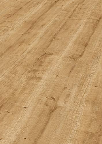 moderna Laminatboden Eiche 328mm breit | Dona Laminat Eiche natur ✓extrabreites Dielenformat ✓einfache Klick Montage ✓natürliche Holzoptik & Struktur | horizon Laminaten 8mm stark | 2,535qm