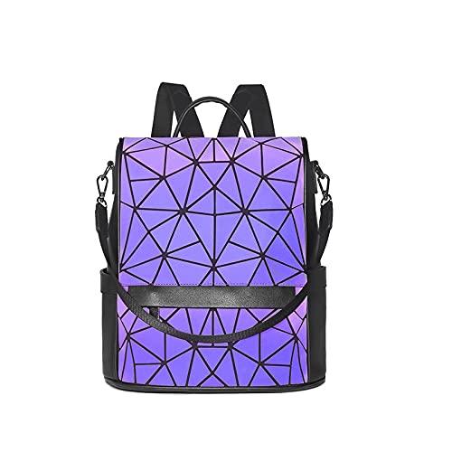 QIANJINGCQ,, Bolso de Moda Femenina, Mochila Coreana, diseño de nicho, Mochila geométrica Luminosa rómbica, Mochila para Estudiante universitaria Femenina