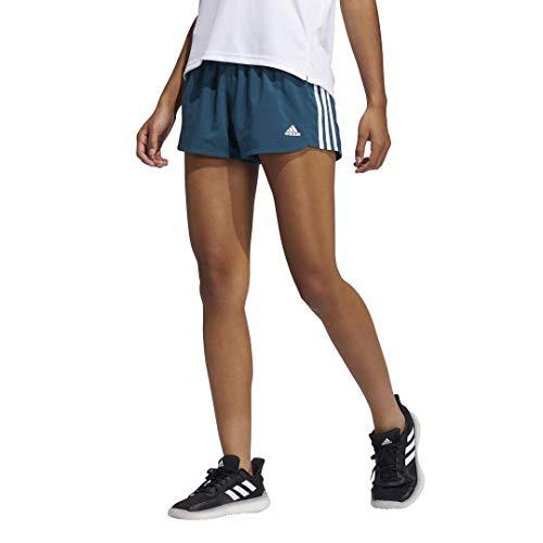 adidas Women's Standard Pacer 3-Stripes Woven Shorts, Wild Teal, Medium