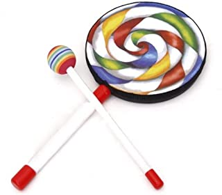 NC 1x Kids Baby Party Playing Lollipop Drum W/Mallet Hand Percussion Xmas Gift