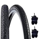 DSI 2 COPERTONI 26 X 1 3/8 (37-590) + CAMERE | Pneumatici Neri GOMME City Bike Olanda Stradale Bici D'Epoca
