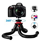 Tripods for Phone, Fotopro 12' Flexible Tripod with Bluetooth for iPhone X 8 Plus, Samsung S9,...