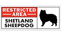 RESTRICTED -AREA- SHETLAND SHEEPDOG ワイドマグネットサイン:シェットランドシープドッグ Lサイズ