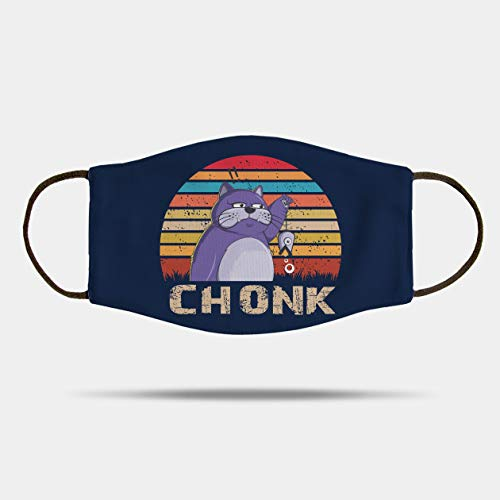 Chonk Funny Fat Cat Meme Gift Mask Holiday Washable Face Mask,Winter Masks,Xmas Gifts