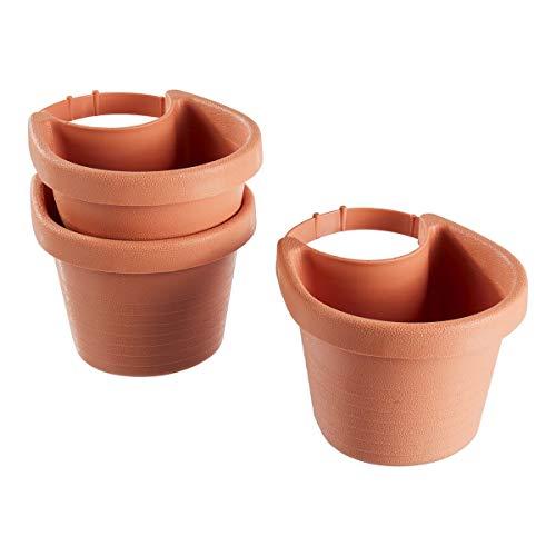 TRI Fallrohr-Blumentopf |Pflanzgefäß Pflanztopf Blumenkübel | zum Bepflanzen von Regenrinnen Regenrohr bis 11,5 cm | Kunststoff