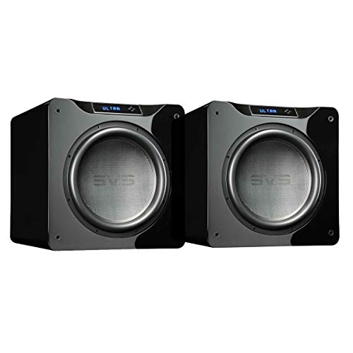 New SVS Dual SB16-Ultra Subwoofer (Piano Gloss Black) – 16-inch Driver, 1,500-Watts RMS, DSP App C...