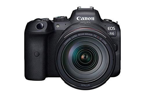 Canon EOS R6 Full-Frame Mirrorless Camera + RF24-105mm F4 L is USM Lens Kit (Renewed)