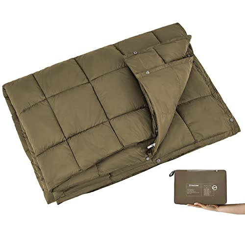 King Camp Multipurpose Packable Lightweight Travel Down Alternative Blanket