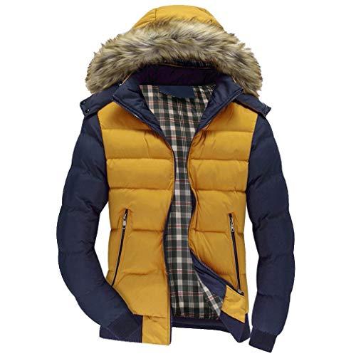 Abrigo De Invierno Hombre Libre Abrigos para Hombre Rebajas Talla Grande Casual Cálido Abrigo con Capucha Manga Larga Cremallera Jacket Parka Pullover riou