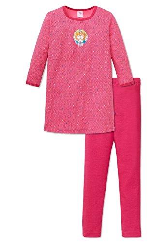 Schiesser Mädchen Nachthemd Prinzessin Lillifee 1/1 mit Leggings, Gr. 98, Rot (pink 504)