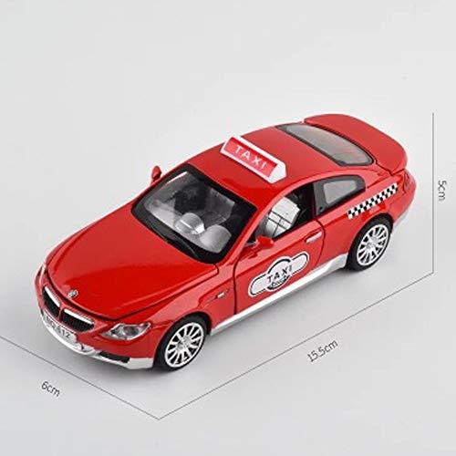 Modelo de coche, 1:32 modelo de coche simulación de aleación fundido a troquel de juguete adornos de coche colección de joyas de 15,5 x 6 x 5 cm (color: rojo)