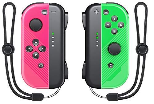 Joy Pad Controller Replacement für Switch / Switch Lite, Vivefox Wireless L / R Joy Pad mit Armband, kabelgebundene / kabellose Switch-Fernbedienungen - Rot / Grün