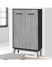 Maison Concept Vista Cabinet, Black and Grey, H43 x W106.5 x D23 cm