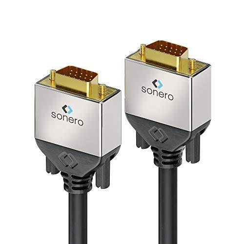 sonero® Premium Cable VGA, 3,00 m, FullHD (1920x1080), negro