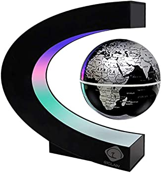 GICLAIN Magnetic Levitation Floating World Map Globe with LED Lights