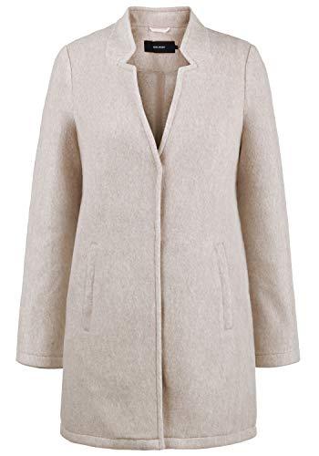 VERO MODA Mania Damen Winter Jacke Wollmantel Winterjacke Mantel Mit Reverskragen, Größe:XL, Farbe:Silver Mink