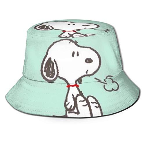 Sn-oopy Sighs Sombrero de Pescador Verano Protección UV Sombreros de Cubo de Viaje Gorra de Sol Plegable de Playa para Hombres y mujeres-Q8Y