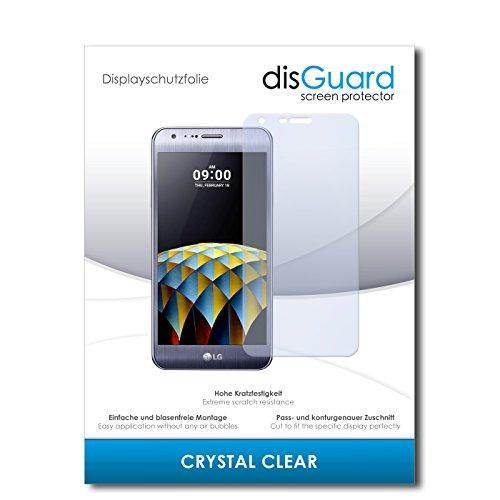disGuard® Bildschirmschutzfolie [Crystal Clear] kompatibel mit LG X Cam [2 Stück] Kristallklar, Transparent, Unsichtbar, Extrem Kratzfest, Anti-Fingerabdruck - Panzerglas Folie, Schutzfolie
