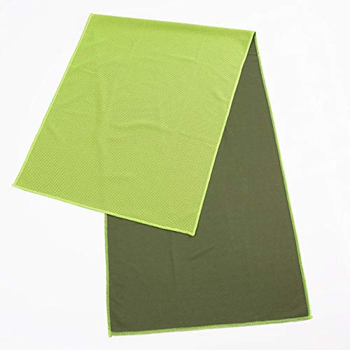 TAOtTAO_Sticker Handtuch Schnell Trocknendes Handtuch Kalt Sinn Handtuch Sport Kühltuch Cool EIS Seide Sport Eiskalt Handtuch 30 * 100cm können angepasst Werden Grün