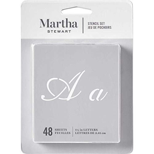 Martha Stewart Crafts Alphabet Stencil, 32275 Fancy