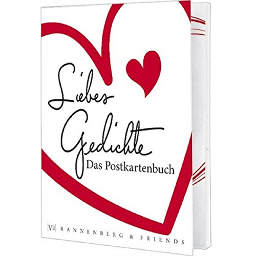 Postkartenbuch Liebesgedichte, Postkarte Ansichtskarte, Liebe Gedicht