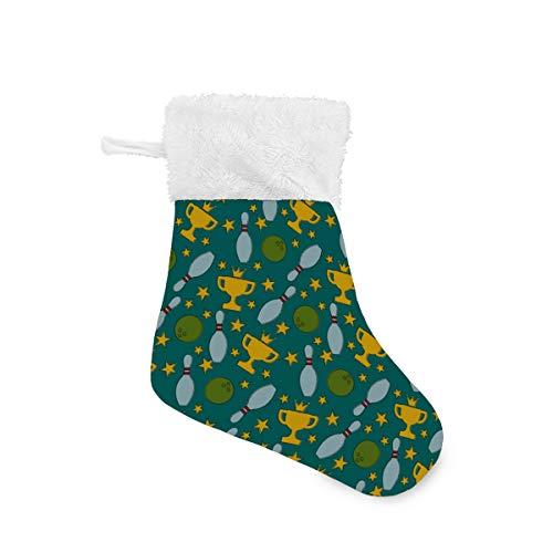 Buyxbn Bowling-Weihnachtsstrumpfhalter Geschenktüten Weihnachtsbaum Ornament Dekoration Küche Dekor, Multi, 4er-Packung