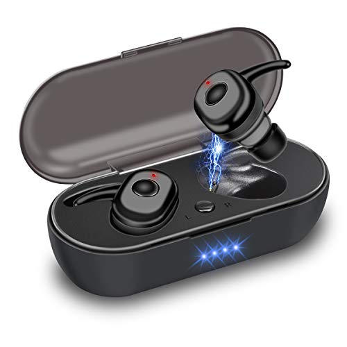 Etmury Mini Bluetooth Kopfhörer In Ear Kopfhörer BT 5.0 Sport Kopfhörer,Minikopfhörer Kabellose Bluetooth Headset mit Portable Mini Ladekästchen und Integriertem Mikrofon für für iOS, Android