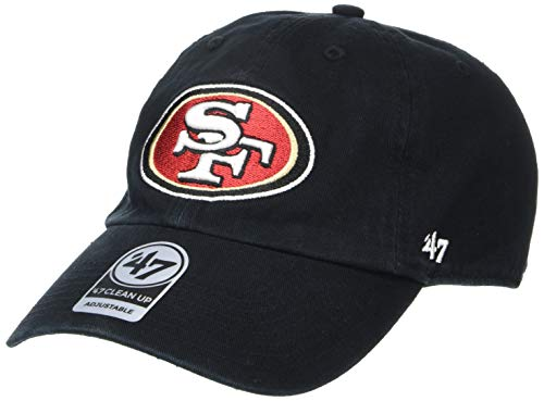 NFL San Francisco 49ers Men's Clean Up Cap, Black, One Size