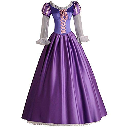 Angelaicos Womens Princess Costume Party Long Purple Victorian Dress - http://coolthings.us