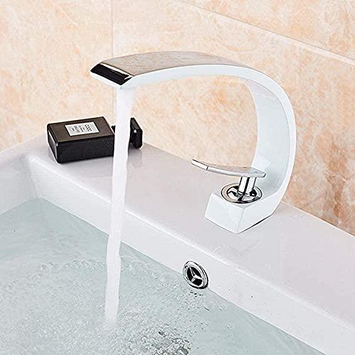 Fregadero de cocina mezclador grifo cromo lavabo grifo baño grifo cobre lavabo grifo monomando lavabo grifo blanco