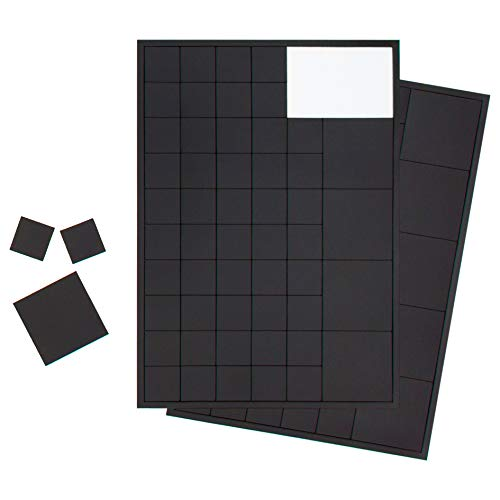 Beilheimer 110x Magnetplättchen 20 x 20mm und 40 x 40mm, Selbstklebende Magnet-Plättchen für Postkarten, Fotos und Poster